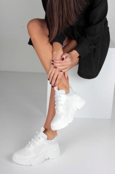 Pantofi sport casual Inan Ayakkabi INAY5635BCF alb