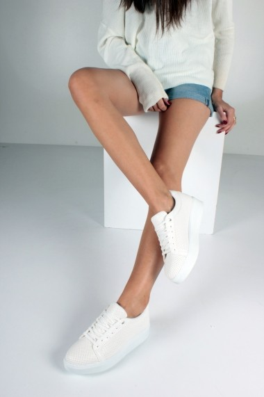 Pantofi sport casual Inan Ayakkabi INAY66BYZCLDL alb