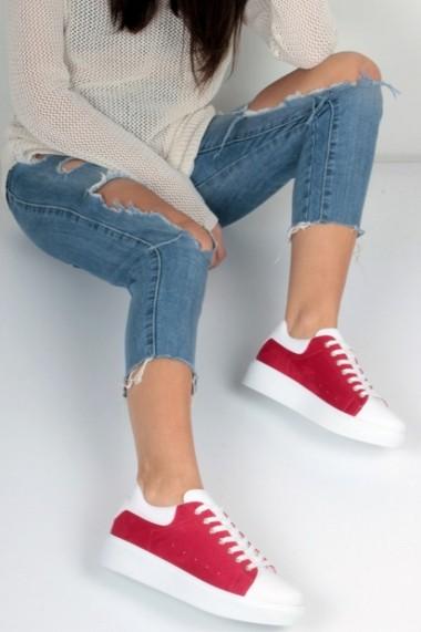 Pantofi sport casual Inan Ayakkabi INAY68BYZKRZ rosu - els