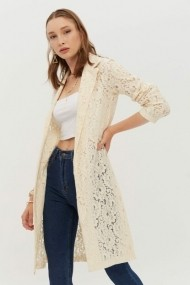 Cardigan New Now 19Y461001 Crem