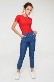 Pantaloni New Now 19Y003073 Albastru