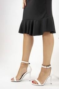 Pantofi cu toc Fox Shoes B922112609 Alb