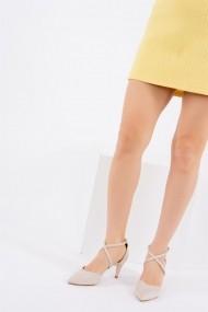 Pantofi cu toc Fox Shoes D654054802 Bej