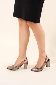 Pantofi cu toc Fox Shoes F404110314 Argintiu