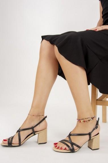 Pantofi cu toc Fox Shoes F654028017 Negru