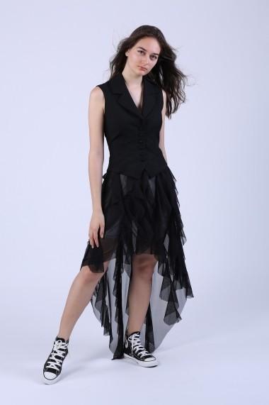 Fusta Maruca W10571 asimetrica neagra