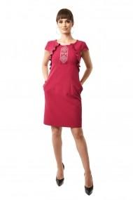 Rochie de zi scurta Lille Couture din stofa Luminita Fucsia