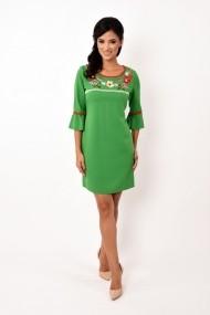 Rochie de zi scurta din stofa Lille Couture Adelina verde