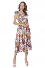 Rochie de zi midi Lille Couture LIL19RZM-055 Roxy Print Floral