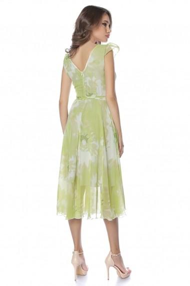 Rochie de zi midi Lille Couture LIL19RZM-065 Roxy Verde