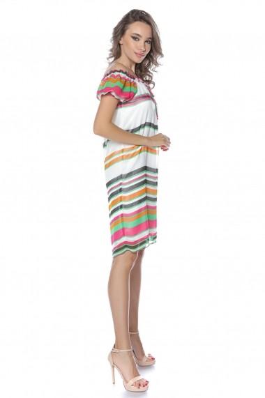 Rochie de zi midi Lille Couture Andra Multicolor