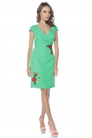 Rochie de zi midi Lille Couture Tania Verde