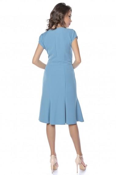 Rochie de zi midi Lille Couture Adriana Bleu