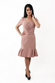 Rochie de zi midi din stofa Lille Couture Sonia roz