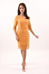 Rochie de zi midi din stofa Lille Couture Lavinia galben