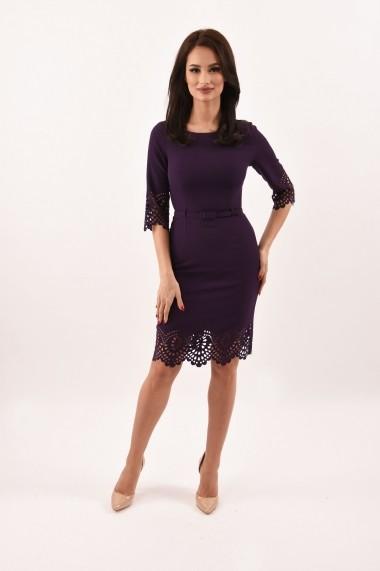 Rochie de zi din stofa Lille Couture Lavinia mov