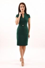 Rochie de zi midi din stofa Lille Couture Bety verde