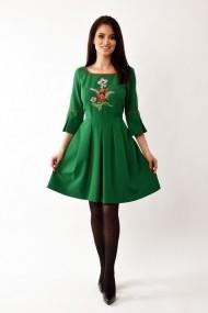 Rochie de zi midi din stofa Lille Couture Riana verde