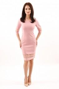 Rochie de zi din stofa Lille Couture Ana roz