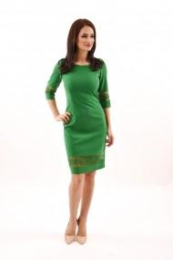 Rochie de zi din stofa Lille Couture Ana verde