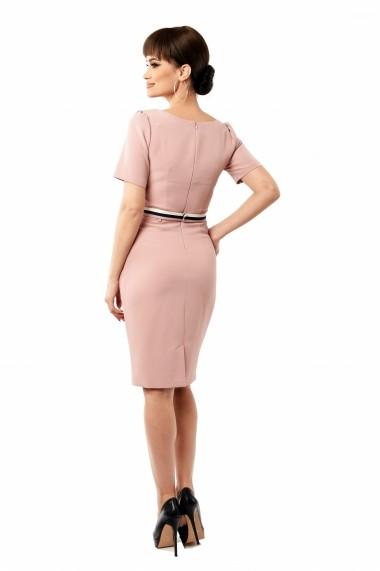 Rochie de zi midi din stofa Lille Couture Zizi roz