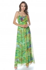 Rochie de zi lunga Lille Couture Verde