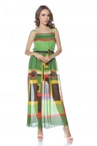 Rochie de zi lunga Lille Couture Emy Verde