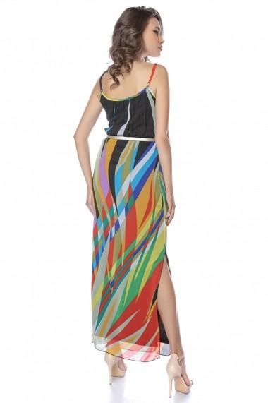 Rochie de zi lunga Lille Couture Mady Neagra