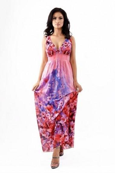 Rochie lunga de zi din voal Lille Couture Alexa florala