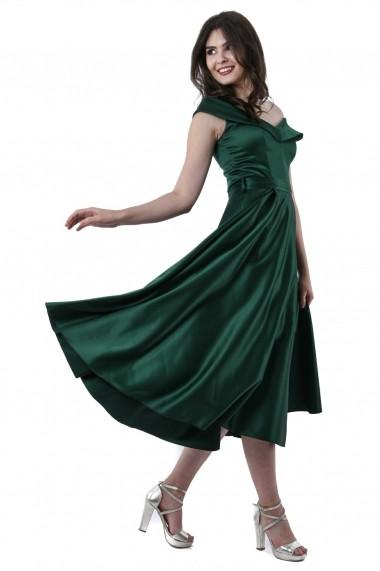 Rochie de seara midi Lille Couture Gianina Verde