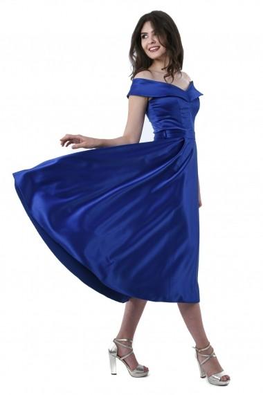 Rochie de seara midi Lille Couture Gianina Albastra