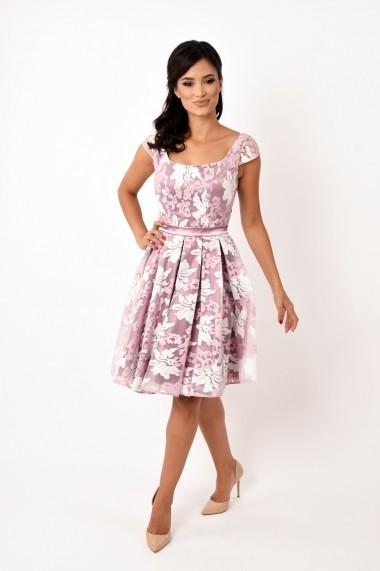 Rochie de seara midi Lille Couture Alice model floral