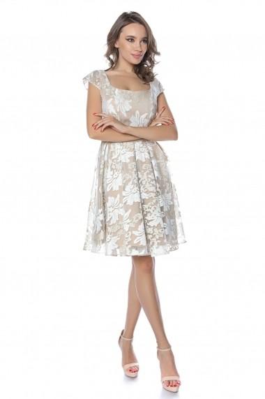 Rochie de seara midi Lille Couture Alice Crem