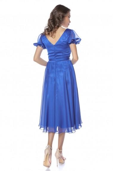 Rochie de seara midi Lille Couture Roxana Albastru Electric