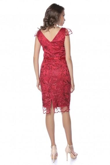 Rochie de seara midi Lille Couture Deli Visiniu