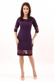 Rochie de zi midi din stofa Lille Couture Ana mov