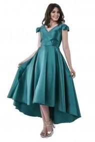 Rochie de seara lunga Lille Couture din tafta Doris Verde