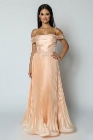 Rochie de seara lunga Lille Couture din organza Sorina