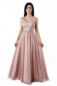 Rochie lunga de seara Lille Couture Elena roz