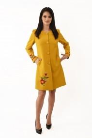 Pardesiu stofa Lille Couture Maria Galben