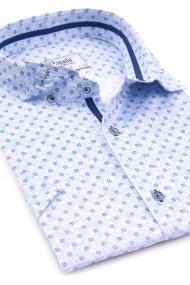 Camasa ESPADA MEN`S WEAR maneca scurta 1021900530-2 bleu