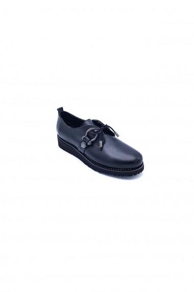 Pantofi piele naturala Torino 113 negri