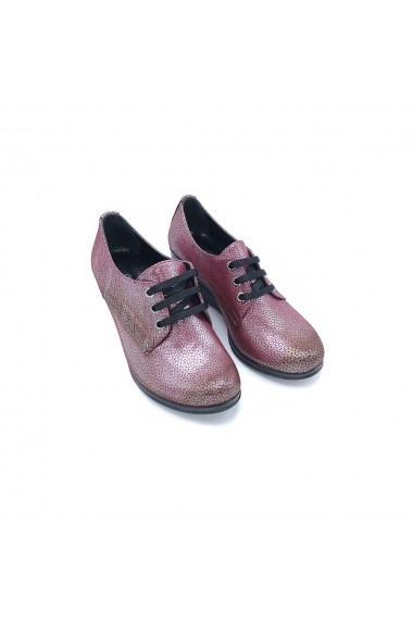Pantofi piele naturala Torino 244 bordo sidef