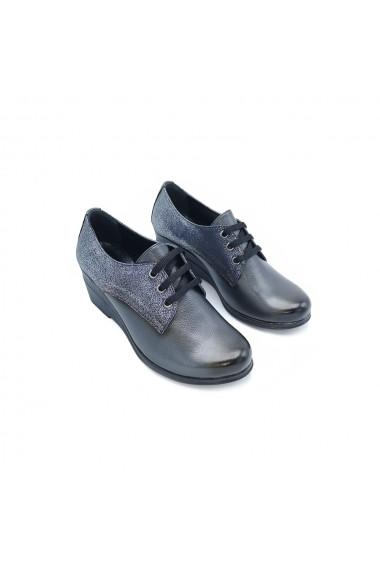 Pantofi piele naturala Torino 244 Bleumarin sidef