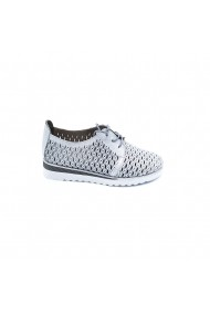 Pantofi piele naturala Torino 1922 argintii