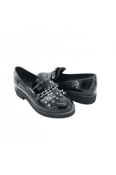 Pantofi din piele Torino 7050-016 Negri