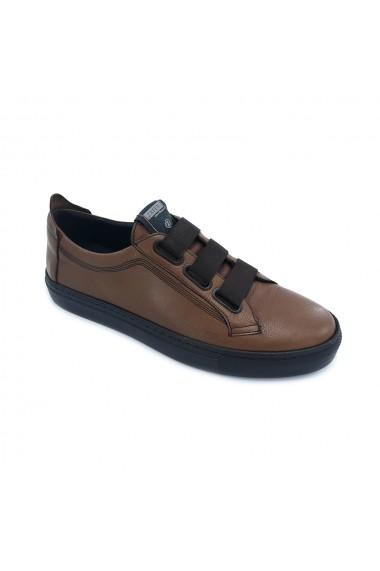 Pantofi piele naturala Torino 3661 maro