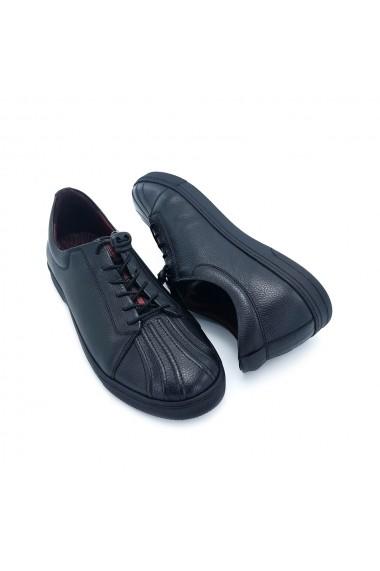 Pantofi sport piele naturala Torino 3658 negri