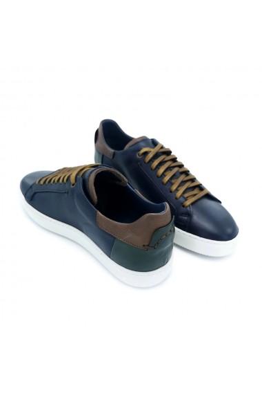 Pantofi piele naturala Torino 387 bleumarin