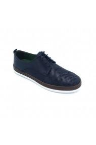 Pantofi piele naturala Torino 3683 bleumarin